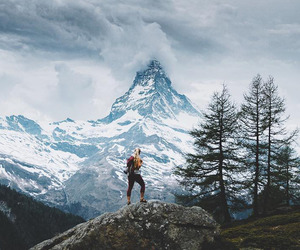 mountains, travel, and landscape image