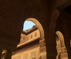 Alhambra, andalucia, and arabic image