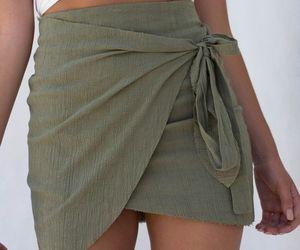 clothes, khaki, and skirt image