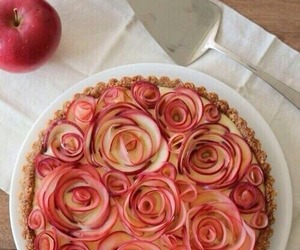 apple, food, and rose image