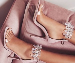 details, heels, and pink image