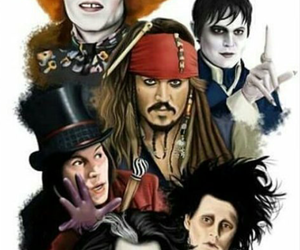 jack sparrow, johnny depp, and Willy Wonka image