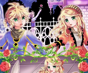 anime, vocaloid, and rin and len kagamine image