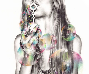 bubbles, art, and drawing image