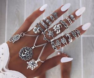 fingers, cute, and rings image