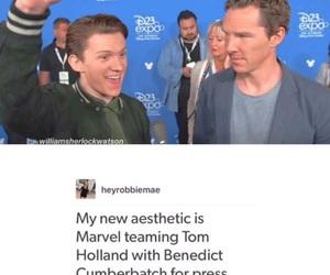 benedict cumberbatch and tom holland image