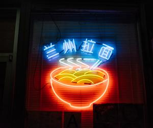 neon, light, and food image