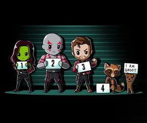 rocket, groot, and starlord image