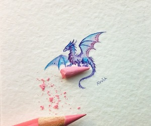 Little but serious dragon attacked my pencil ✏🐉