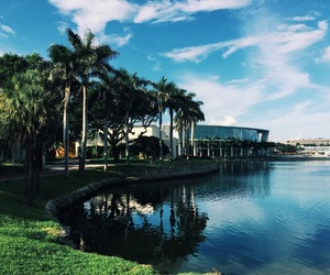 campus, college, and lake image