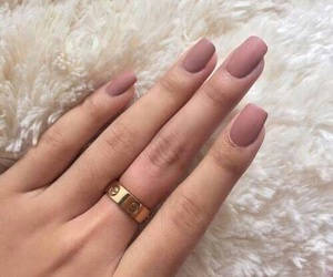 nails, ring, and Nude image