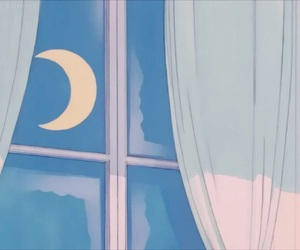 anime, aesthetic, and moon image