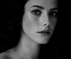 KAYA SCODELARIO, skin, and black and white image