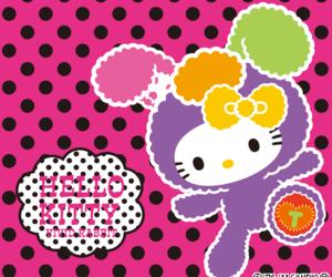 bunny, dots, and hello kitty image