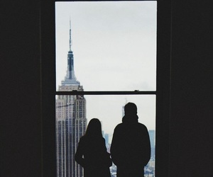 couple, city, and new york image