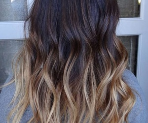 hair, ombre, and ombre image