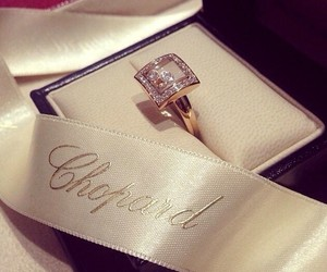 ring, chopard, and diamond image