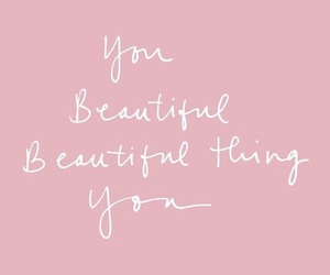 beautiful, quote, and pink image