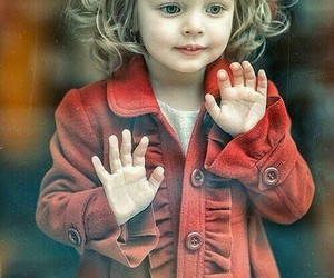 child, red, and simplicity image