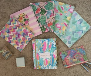 college, notebooks, and notes image