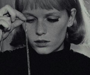 black and white, Mia Farrow, and movie image