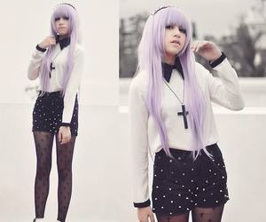 pastel goth, pastel, and goth image