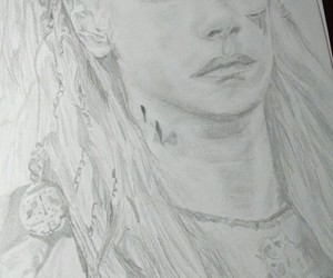 art, lagertha, and drawing image