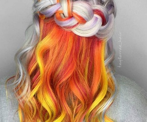 beuty, hair, and colored image