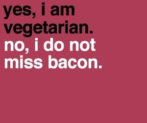 vegetarian and bacon image