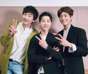 park bo gum, kdrama, and song joong ki image