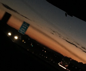 trip, sunset, and road image