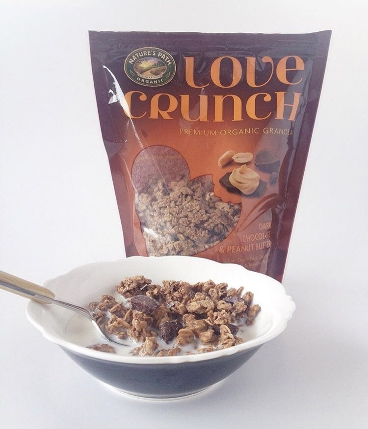 chocolate, peanut butter, and granola image