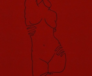red, art, and body image