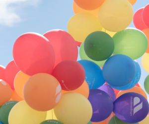balloons, bright, and colourful image