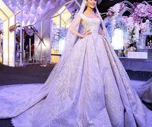 wedding, bijoux, and dress image