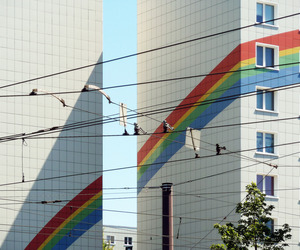 rainbow, building, and aesthetic image