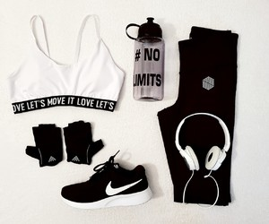 fashion, fit, and music image