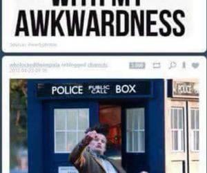 tardis, awkward, and doctor who image