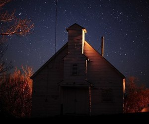 dark, stars, and home image