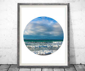 etsy, ocean, and coastal wall art image
