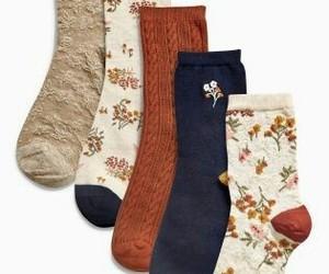 fashion, socks, and autumn image