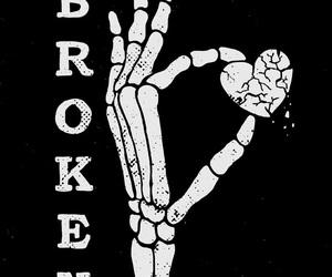 black, broken, and heart image