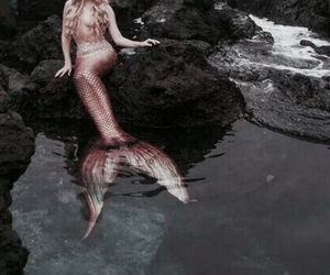 mermaid, water, and fantasy image