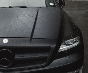 black, car, and mercedes image