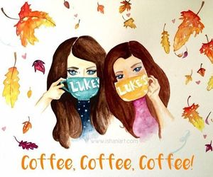 autumn, coffee, and gilmore girls image