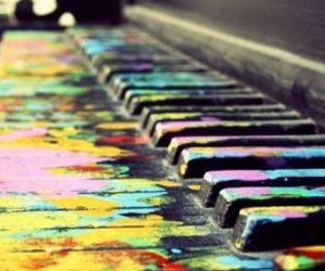 color, note, and piano image