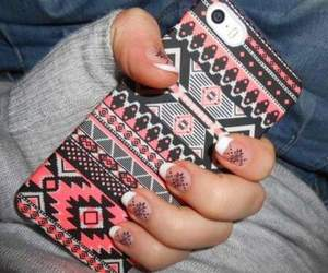 nails, case, and iphone image