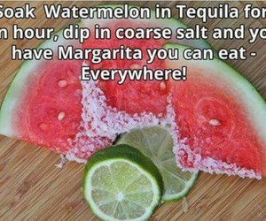 get drunk, watermelon, and tequila image