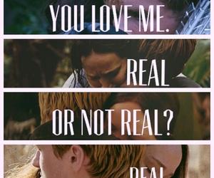 katniss, stay with me, and peeta image