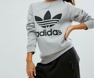 adidas, pullover, and style image